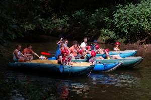 Cesta s Lotry na Úpě - Na klidném úseku při vodáckém Ahoj!