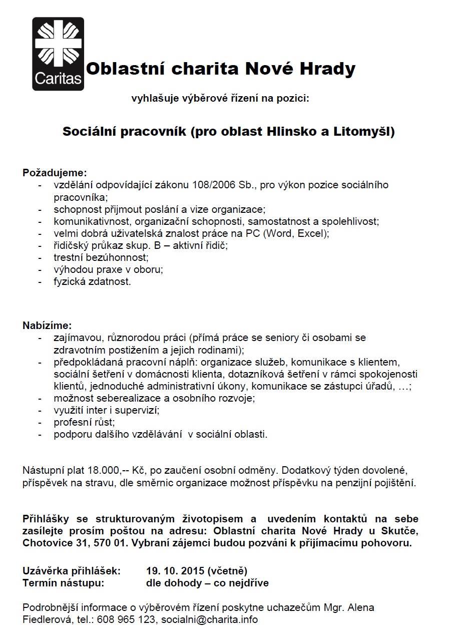 Sociální pracovník PS OA