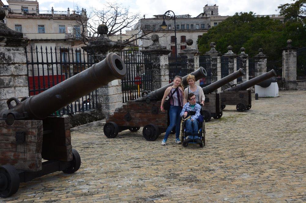 pevnost v Havaně - všude přístupná.