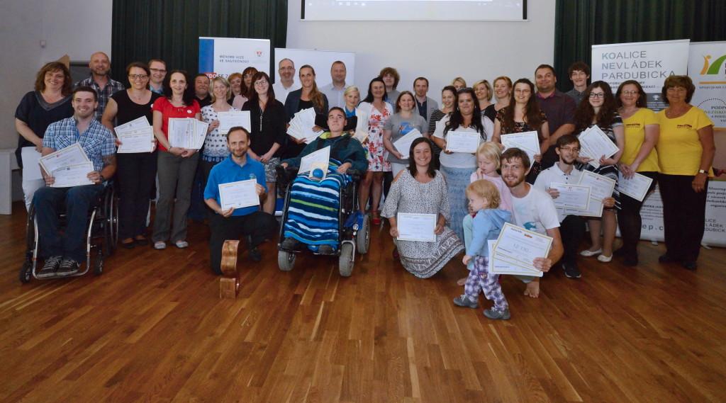 Donátoři a obdarované neziskovky na Burze filantropie