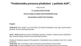 """17.12.18 – Seminář """"Problematika prevence předlužení z pohledu AOP"""""""